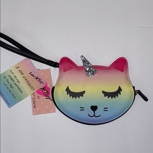 NWT BETSEY JOHNSON cat/unicorn clutch-wristlet